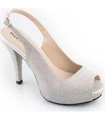 calzado dama fiesta tacon 7 1/2 plata 542834plata