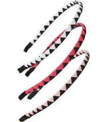 tasha assorted 3-pack headbands in pink at nordstrom