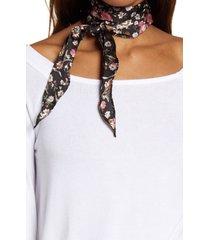 treasure & bond print kite scarf in black georgia rose at nordstrom