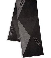 geometric wool-blend scarf