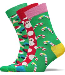holiday gift box underwear socks regular socks multi/mönstrad happy socks