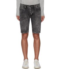 'razor' washed denim shorts