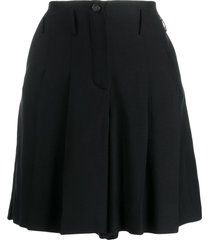 chanel pre-owned high-waisted silk shorts - black