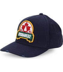 dsquared2 leaf navy blue baseball cap