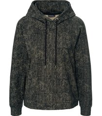 sweatshirt print in tricotstijl van mybc zwart