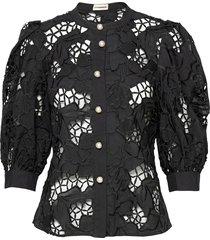 brina blus långärmad svart custommade
