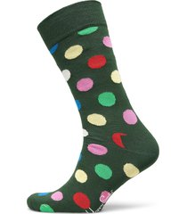 big dot sock underwear socks regular socks grön happy socks