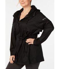 columbia plus size pardon my trench rain jacket
