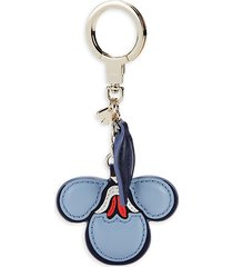 kate spade new york women's briar lane floral leather key chain - blazer blue
