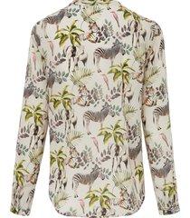 blouse van 100% katoen met lange mouwen van mybc beige