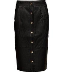 naghi skirt w/ stretch knälång kjol svart soft rebels