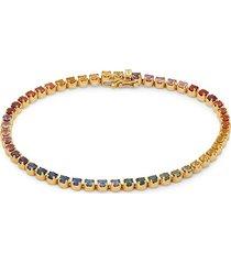 effy women's 14k yellow gold & multicolor sapphire bracelet