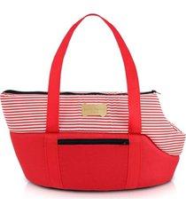 bolsa de passeio para animais domésticos tam. p jacki design pet vermelho