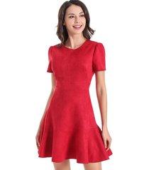 vestido gode tipo gamuza rojo nicopoly