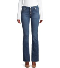 true religion women's becca mid-rise bootcut jeans - medium blue - size 26 (2-4)