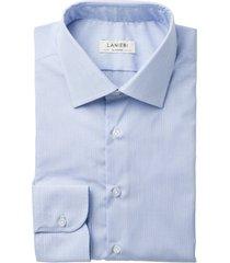 camicia da uomo su misura, ibieffe, easy iron azzurra righe, quattro stagioni | lanieri