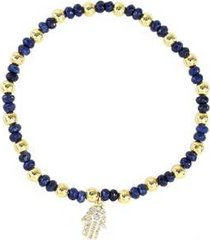 pulseira piuka pietra mão de fátima banhada ouro feminina