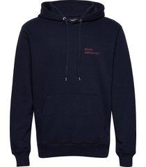 new standard hoodie logo hoodie trui blauw mads nørgaard