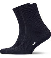 aiden 2-pack socks underwear socks regular socks blå wood wood