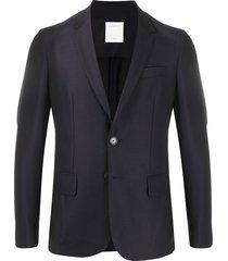 sandro paris single-breasted virgin wool suit - blue