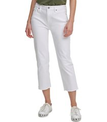 dkny jeans juniors' cropped straight-leg jeans