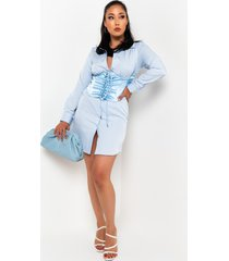 akira pull me in long sleeve corset mini dress