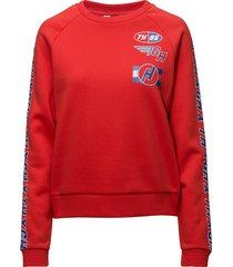 gigi hadid team ls sweatshirt sweat-shirt trui rood tommy hilfiger