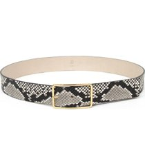 women's b-low the belt milla python embossed leather belt, size small - white/ gold