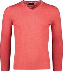 portofino katoenen pullover v-hals koraal
