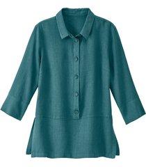 lichte linnen blouse, jade 42