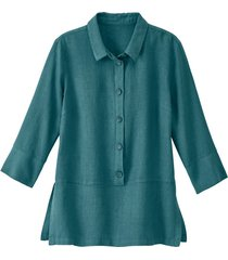 lichte linnen blouse, jade 38