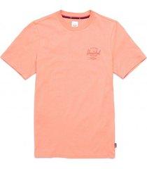 herschel t-shirt supply co. women's tee classic logo carnelian apricot-l