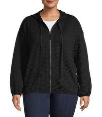 plus full-zip hooded jacket