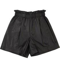 brunello cucinelli soft nappa leather shorts