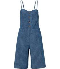 jeans-jumpsuit med knappar