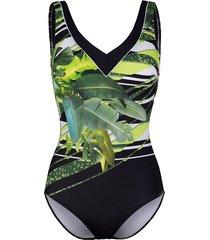 baddräkt sunflair grön::svart