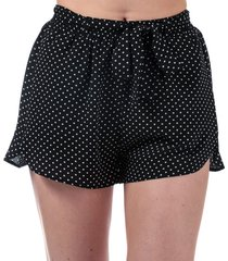 brave soul womens polka dot shorts size 14 in black