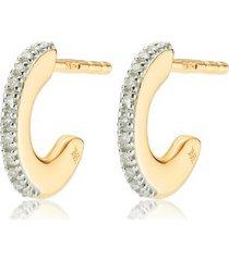 gold fiji small skinny hoop diamond earrings diamond