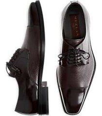 mezlan soka burgundy cap-toe oxfords