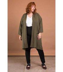 kimono midi viscolinho plus size bold feminino