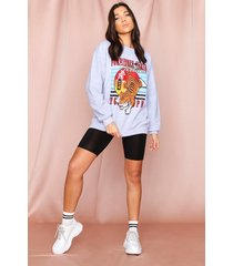 oversized retro tiger sweater, charcoal