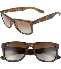 men's ray-ban justin 54mm polarized sunglasses - matte havana