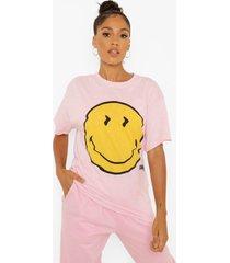 gelicenseerd oversized smiley t-shirt