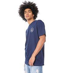camiseta volcom azul-marinho