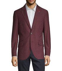 standard-fit textured blazer