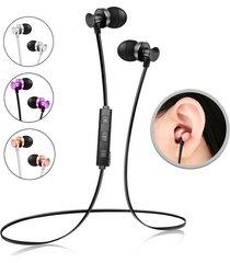 audífonos bluetooth deportivos, s4 sports inalámbrico audifonos bluetooth manos libres  4.1 auriculares estéreo bajo con micrófono y auriculares de sudor para sony iphone samsung (negro)