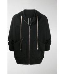 rick owens zip front hoodie