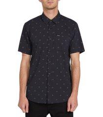 volcom men's mark mix short sleeve shirt