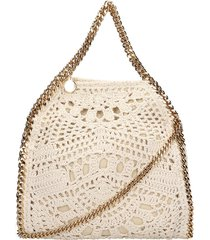 stella mccartney falabella shoulder bag in beige tech/synthetic