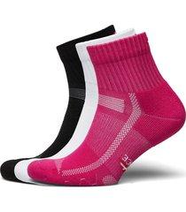 long distance running socks 3 pack ankelstrumpor korta strumpor multi/mönstrad danish endurance